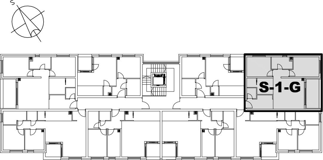 Stan S-1-G - Raspored stanova na katu