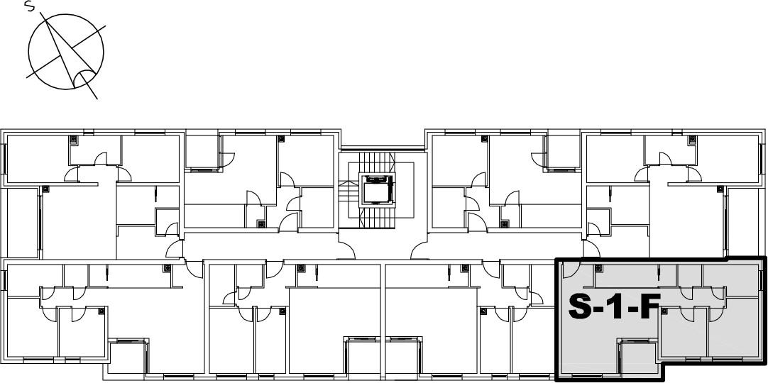 Stan S-1-F - Raspored stanova na katu