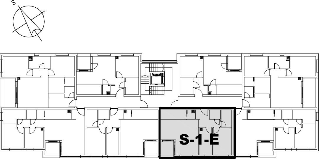 Stan S-1-E - Raspored stanova na katu