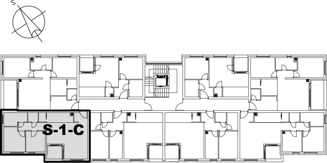 Stan S-1-C - Raspored stanova na katu