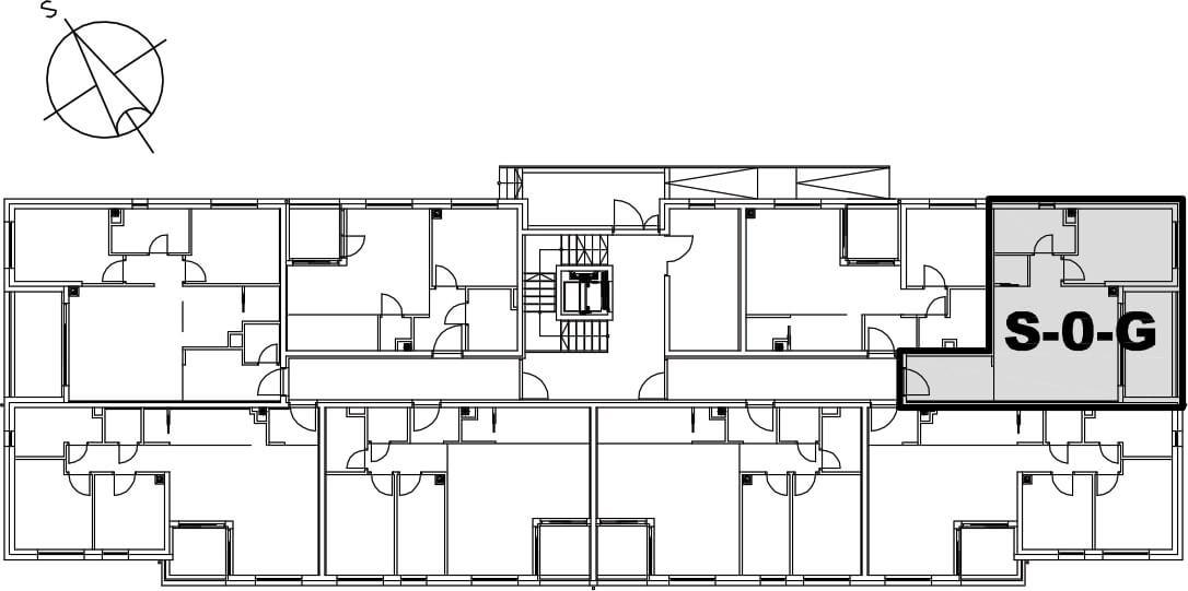 Stan S-0-G - Raspored stanova na katu