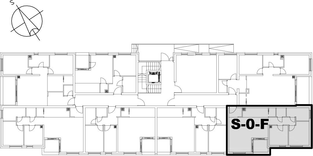 Stan S-0-F - Raspored stanova na katu