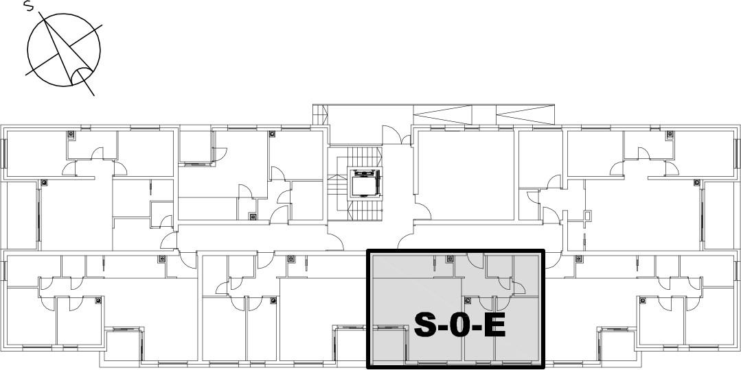 Stan S-0-E - Raspored stanova na katu