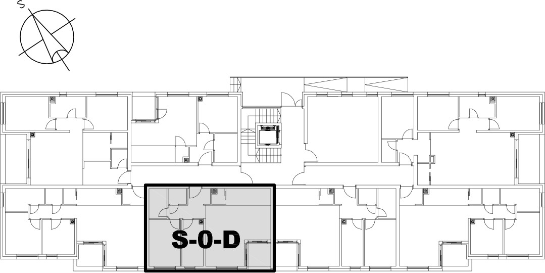 Stan S-0-D - Raspored stanova na katu