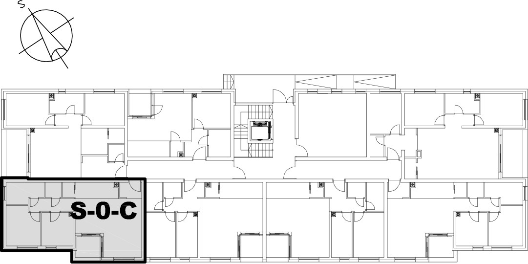 Stan S-0-C - Raspored stanova na katu