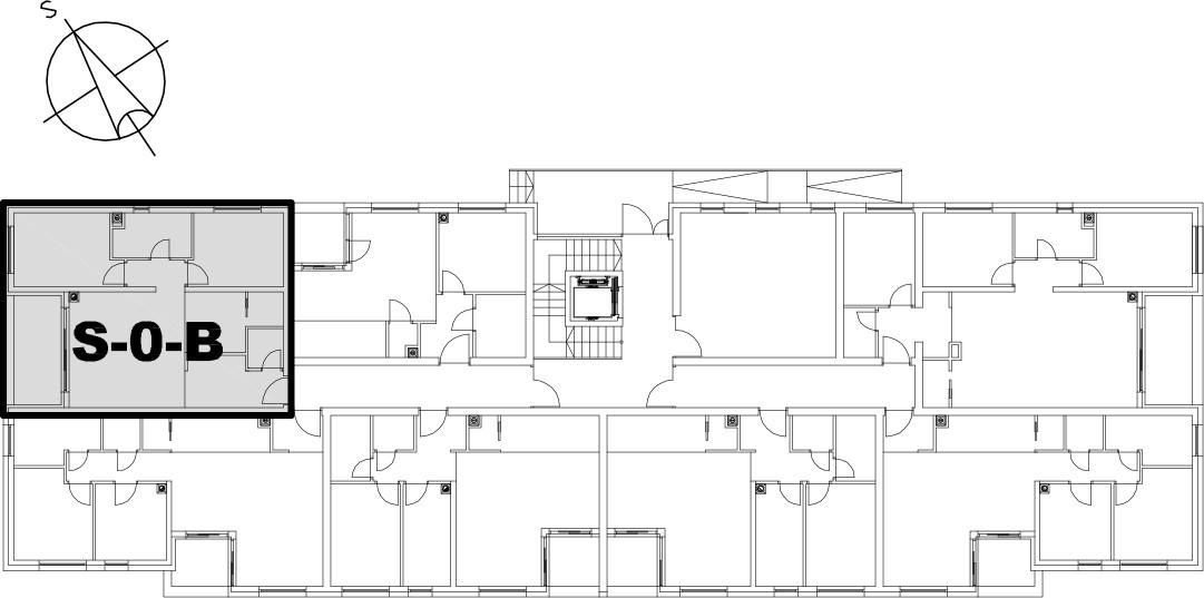 Stan S-0-B - Raspored stanova na katu