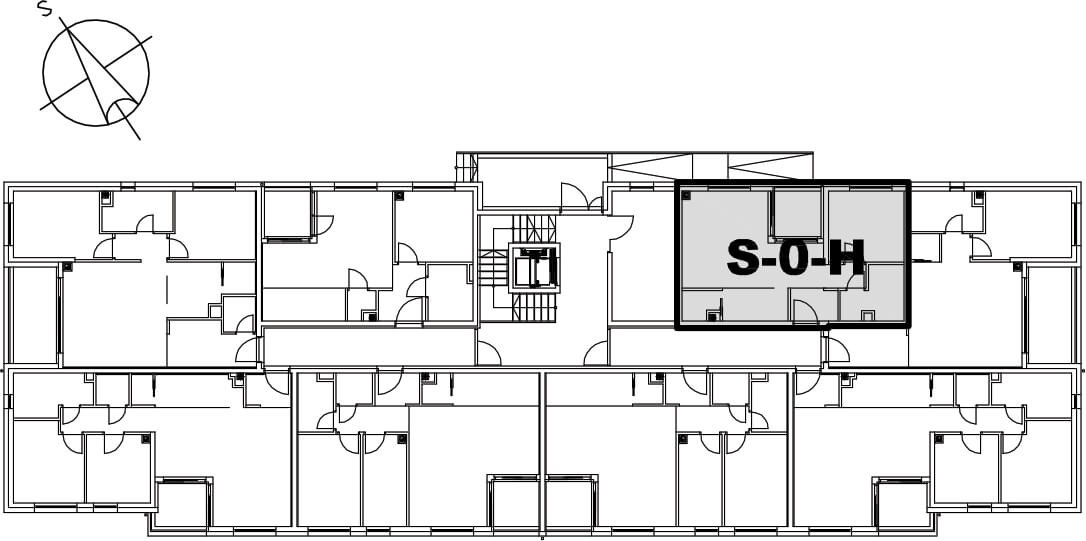 Stan S-0-H - Raspored stanova na katu