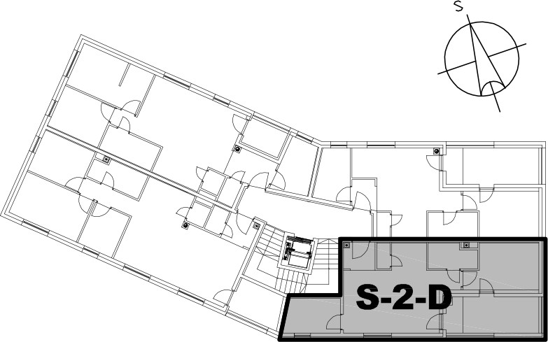 Stan S-2-D - Raspored stanova na katu