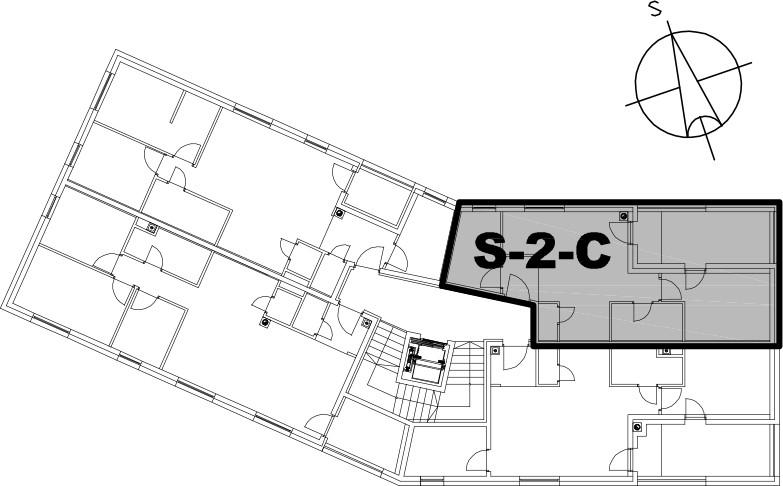 Stan S-2-C - Raspored stanova na katu