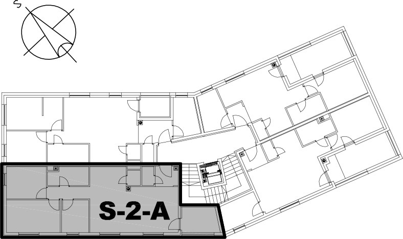 Stan S-2-A - Raspored stanova na katu