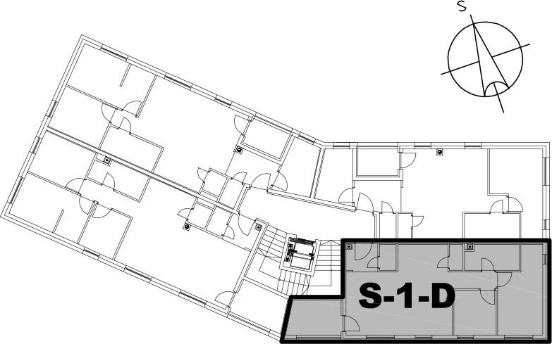 Stan S-1-D - Raspored stanova na katu
