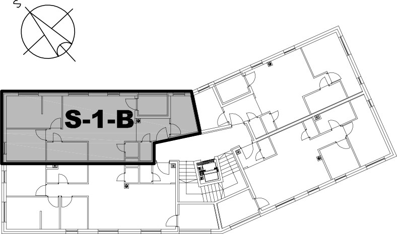 Stan S-1-B - Raspored stanova na katu