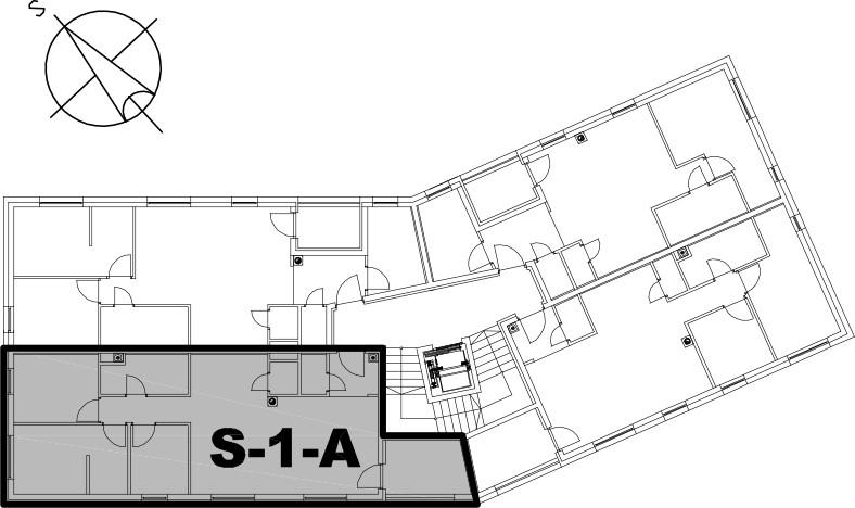 Stan S-1-A - Raspored stanova na katu