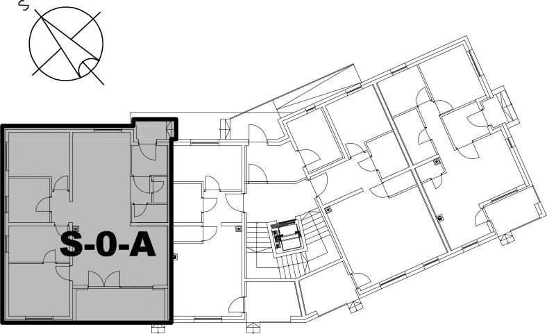 Stan S-0-A - Raspored stanova na katu