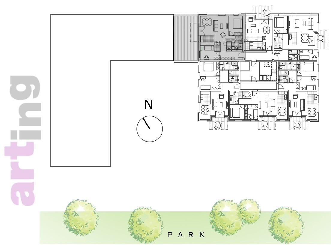 Stan A-3-6 - Raspored stanova na katu