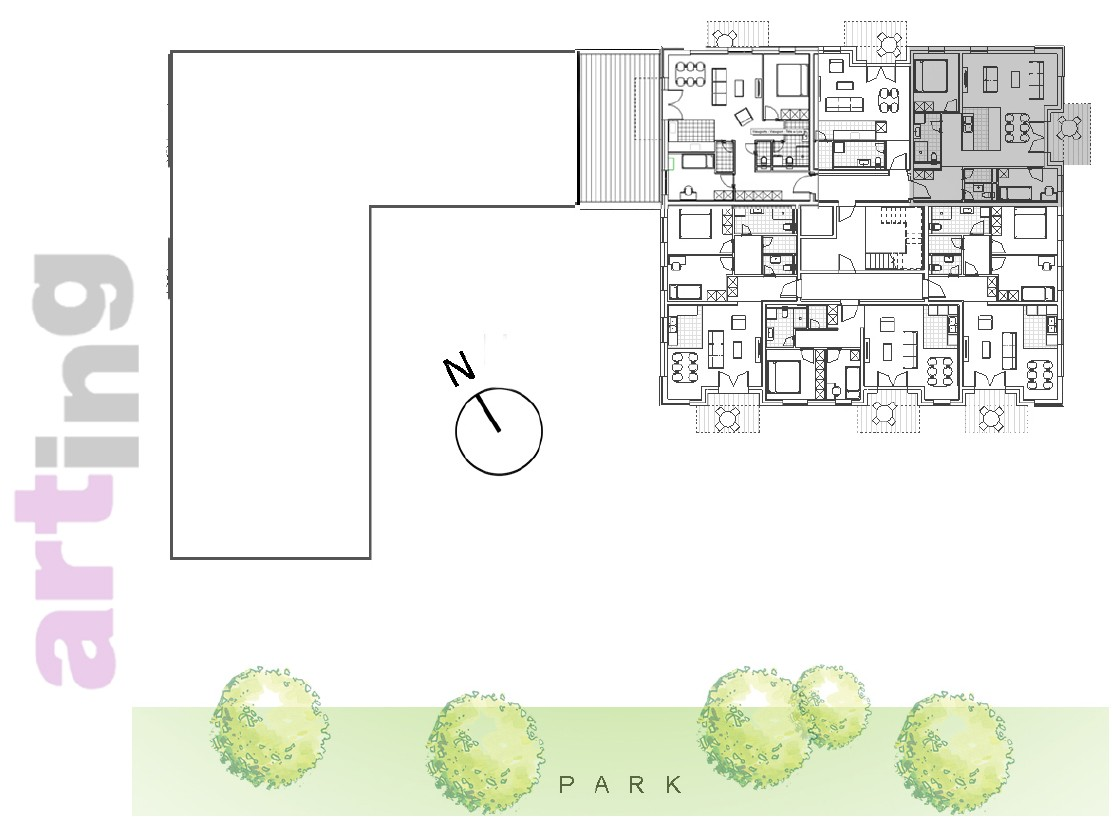 Stan A-3-4 - Raspored stanova na katu