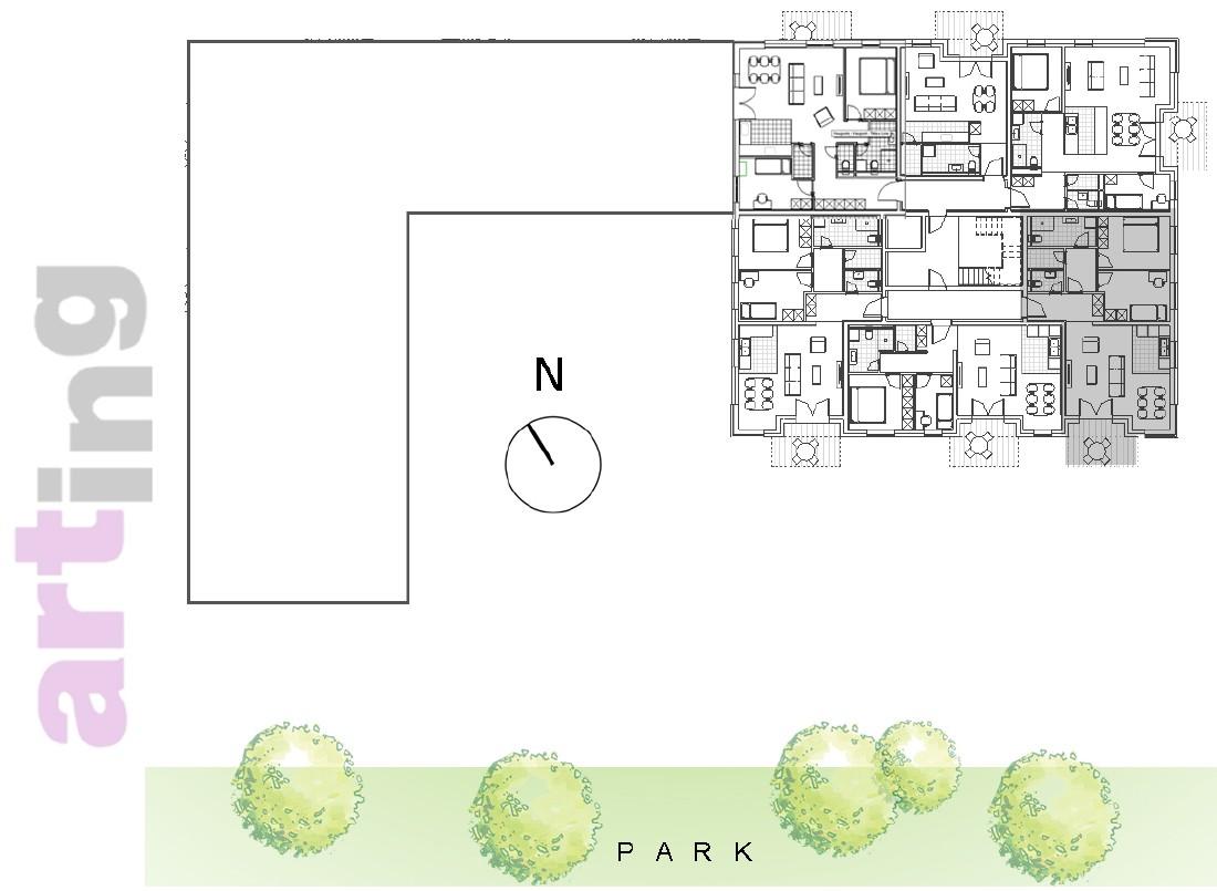 Stan A-3-3 - Raspored stanova na katu