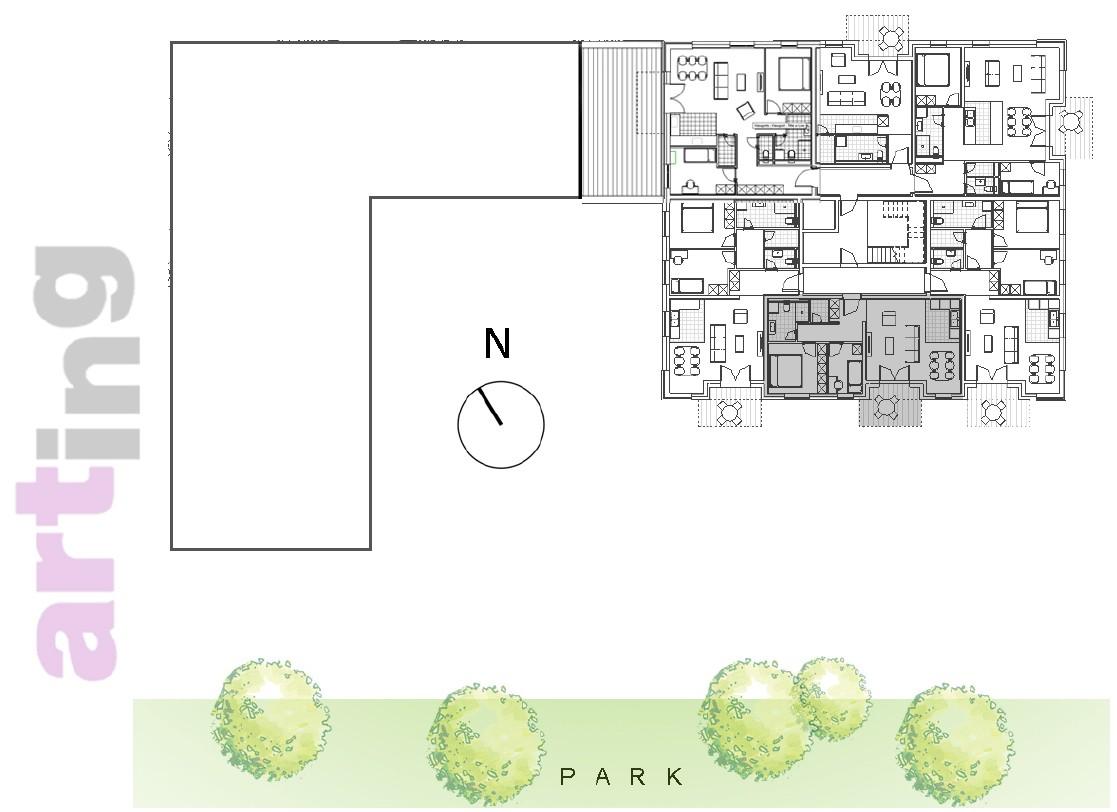 Stan A-3-2 - Raspored stanova na katu