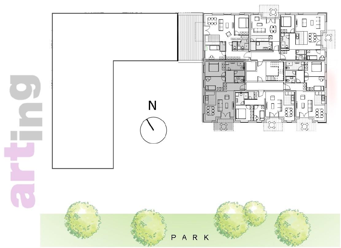 Stan A-3-1 - Raspored stanova na katu