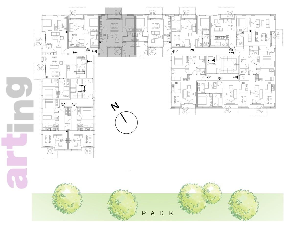 Stan B-2-5 - Raspored stanova na katu
