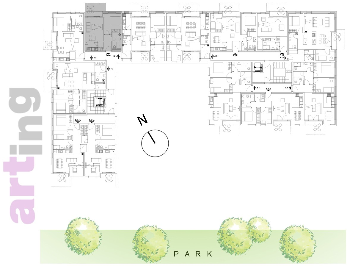Stan B-2-4 - Raspored stanova na katu