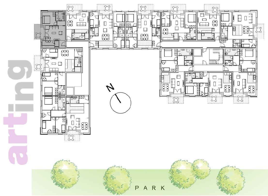 Stan B-2-3 - Raspored stanova na katu