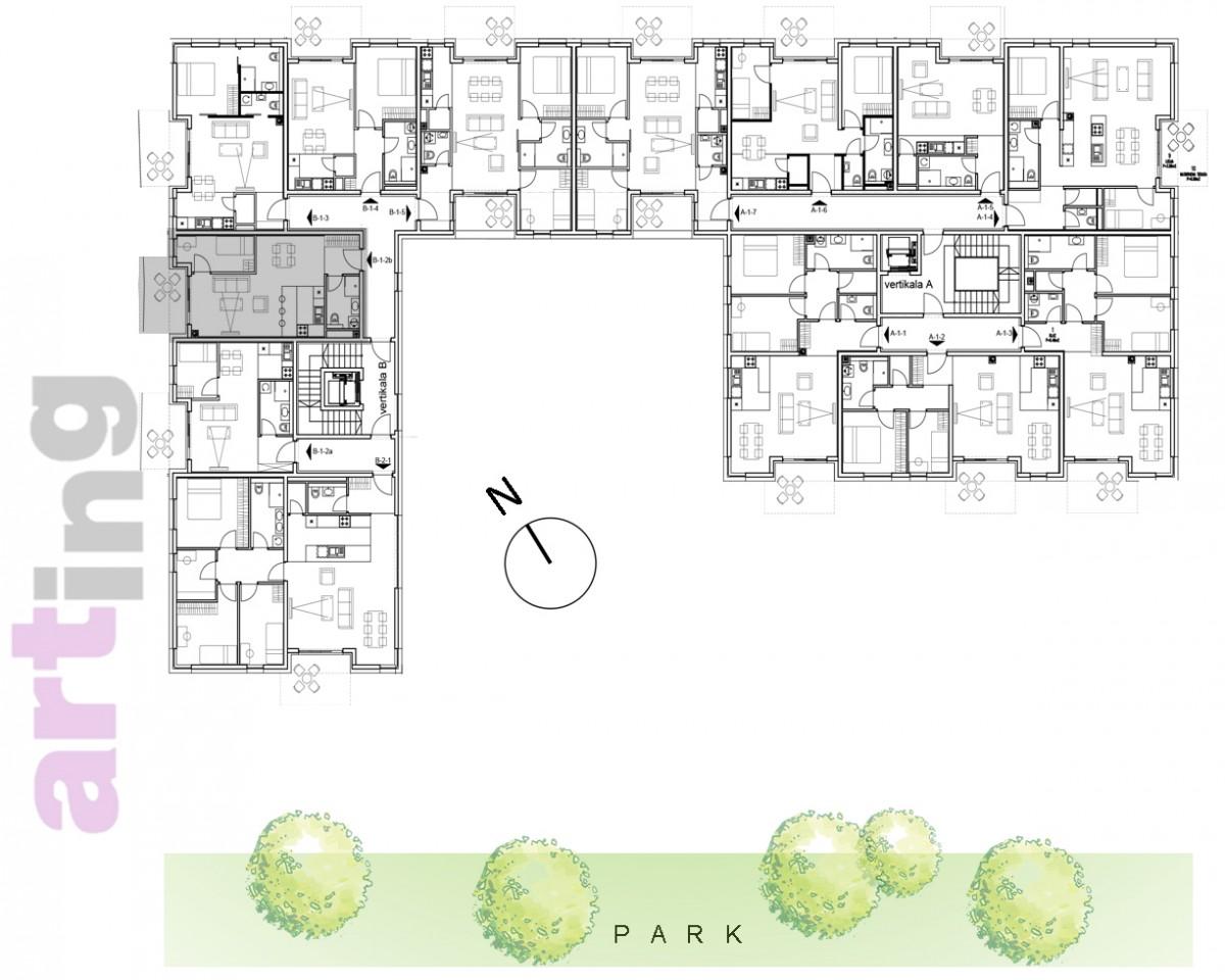 Stan B-2-2b - Raspored stanova na katu