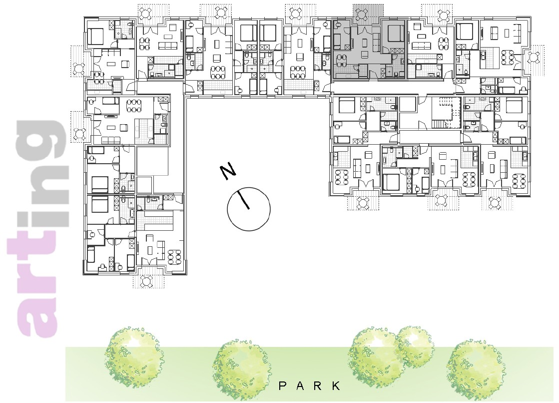 Stan A-2-6 - Raspored stanova na katu