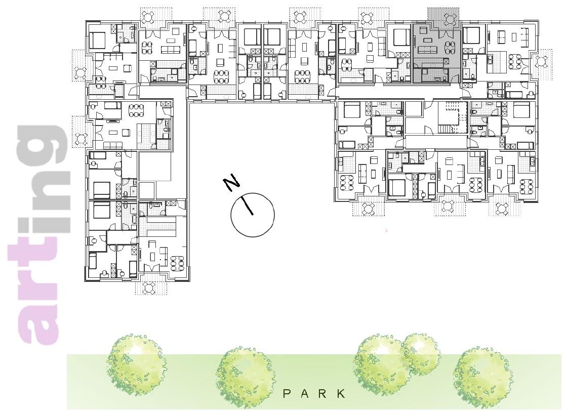 Stan A-2-5 - Raspored stanova na katu