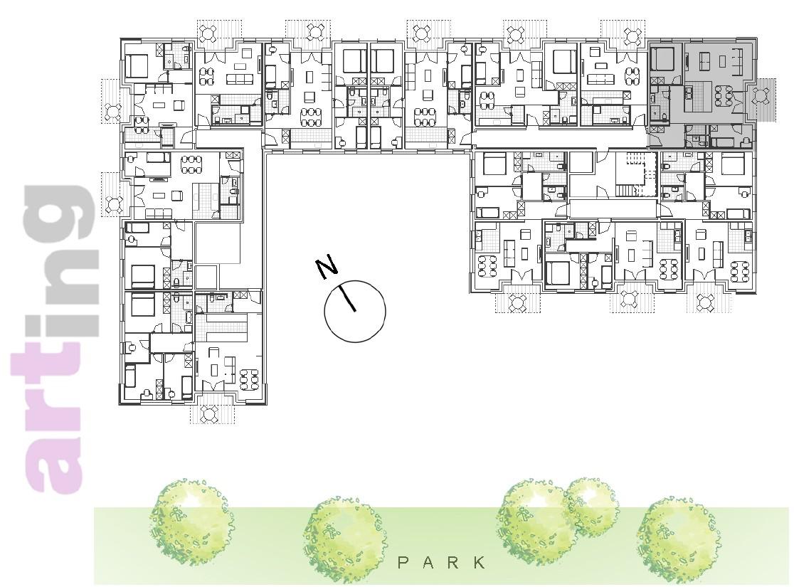 Stan A-2-4 - Raspored stanova na katu