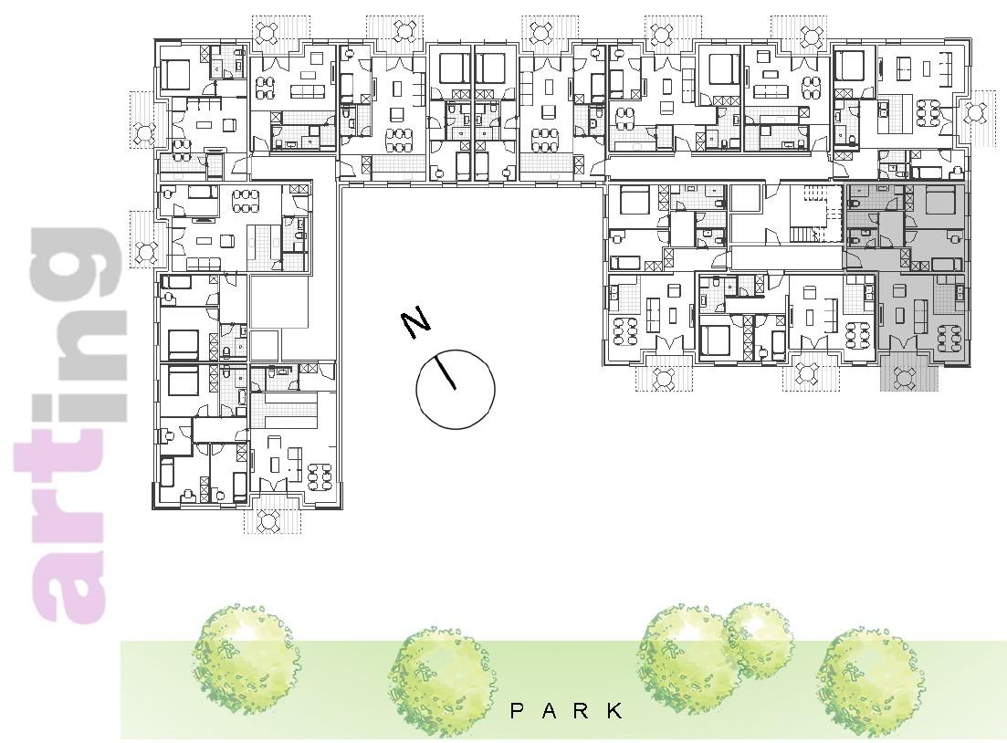 Stan A-2-3 - Raspored stanova na katu