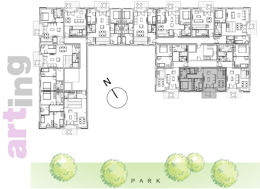 Stan A-2-2 - Raspored stanova na katu