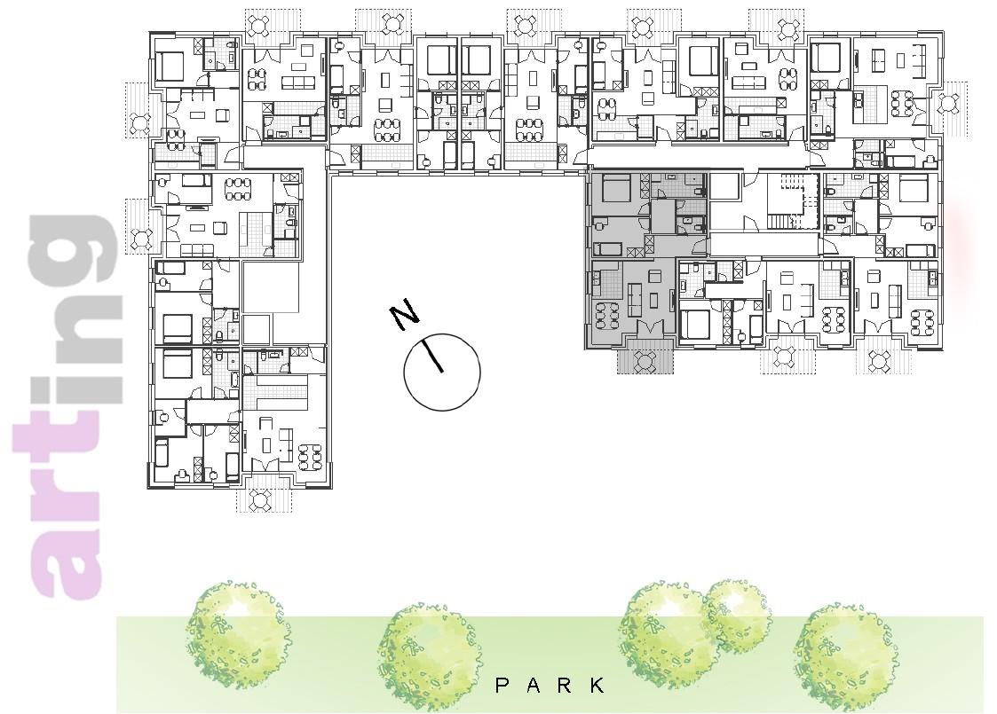 Stan A-2-1 - Raspored stanova na katu