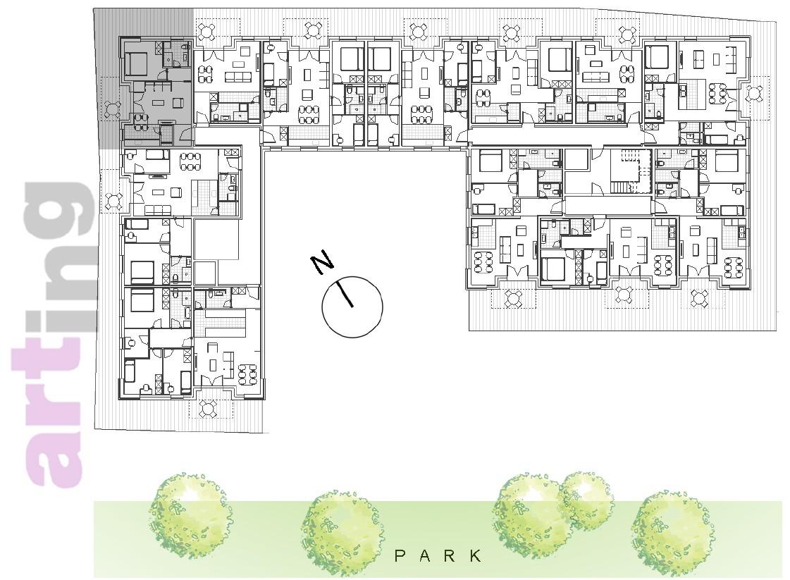 Stan B-1-3 - Raspored stanova na katu