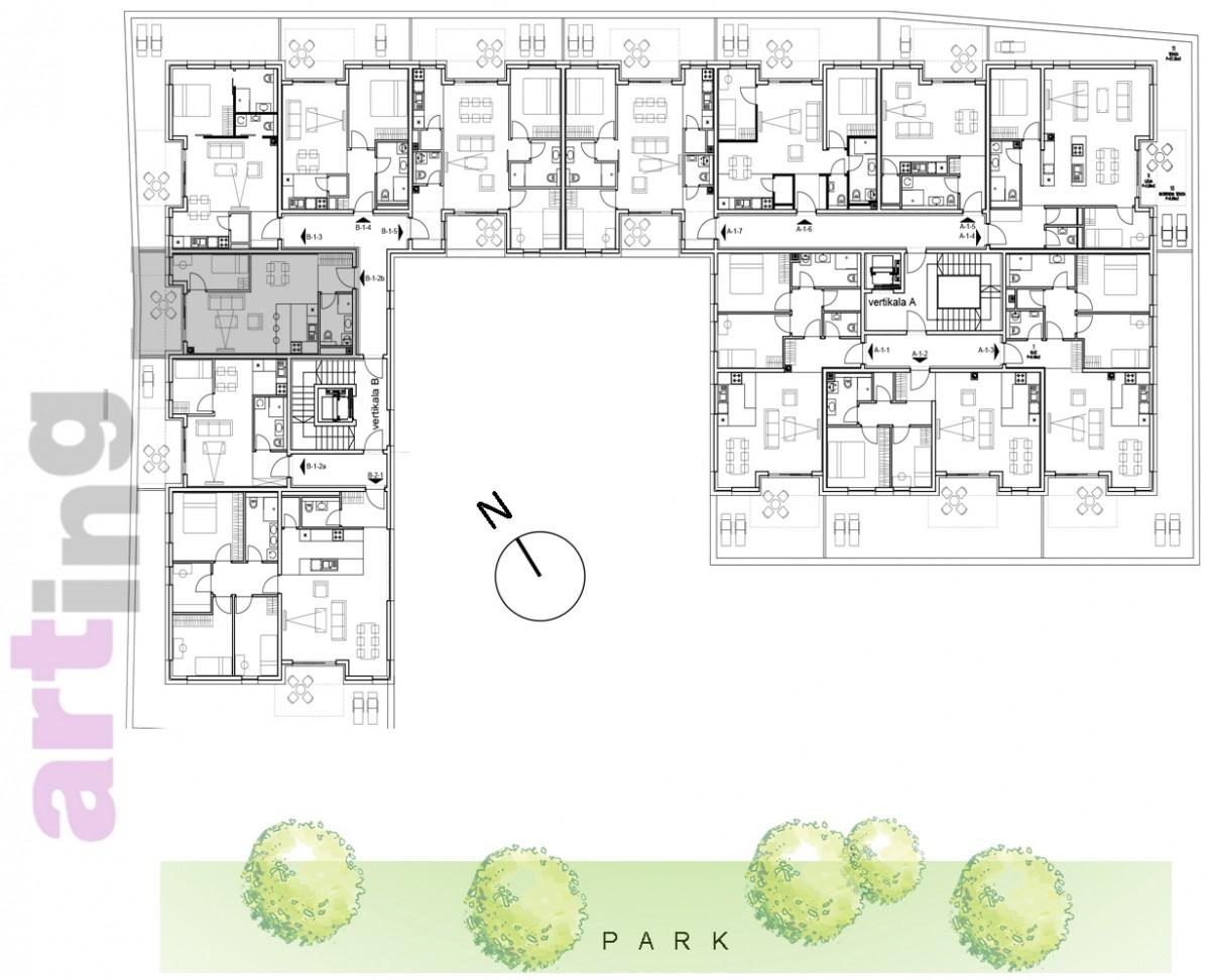 Stan B-1-2b - Raspored stanova na katu