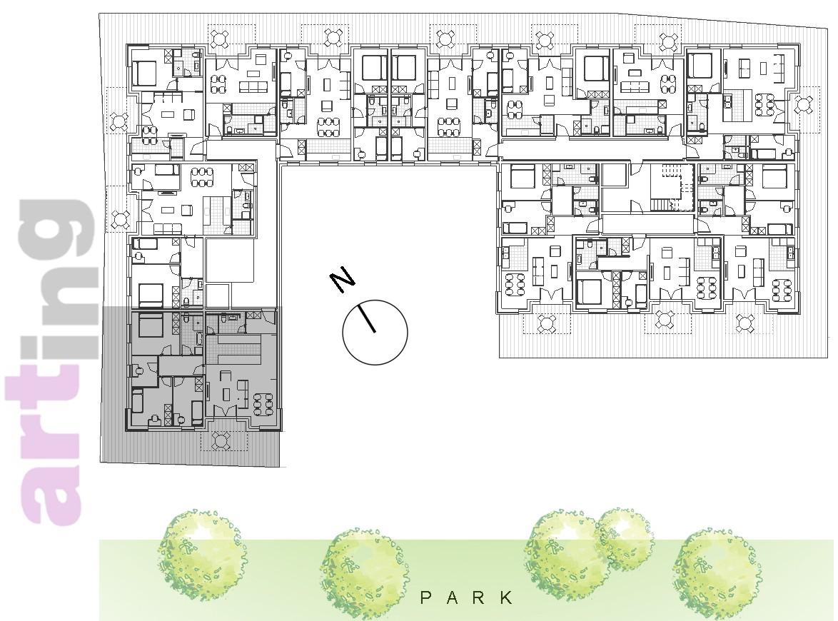 Stan B-1-1 - Raspored stanova na katu