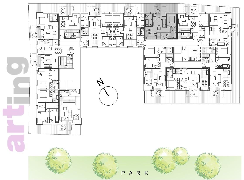 Stan A-1-6 - Raspored stanova na katu