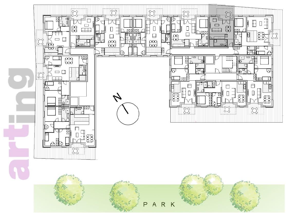 Stan A-1-5 - Raspored stanova na katu