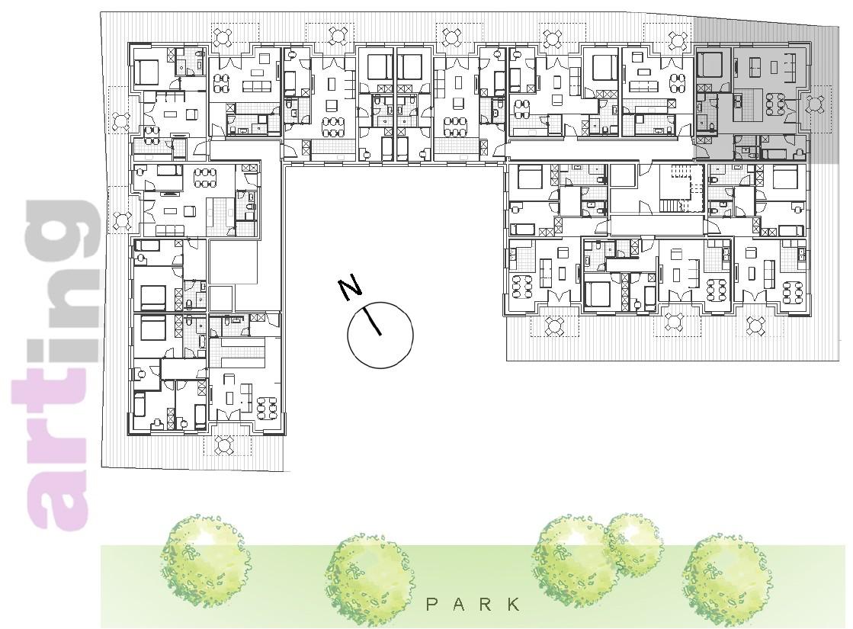 Stan A-1-4 - Raspored stanova na katu