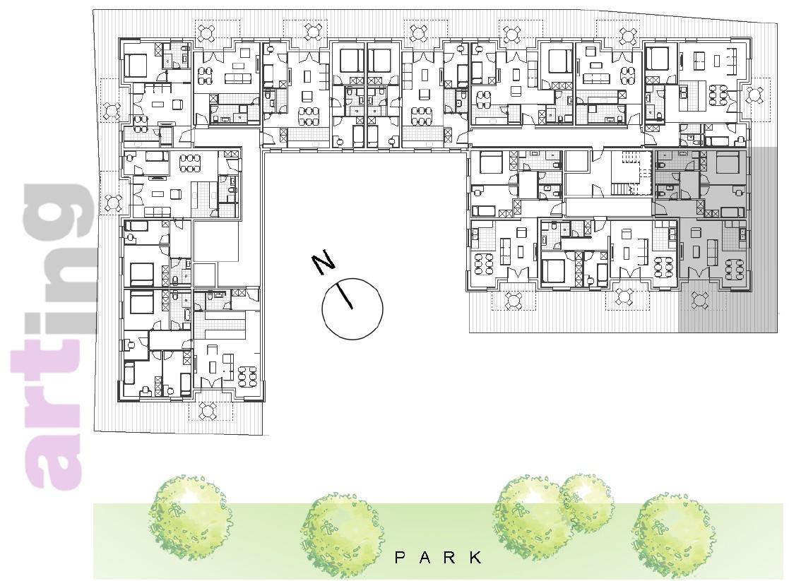 Stan A-1-3 - Raspored stanova na katu
