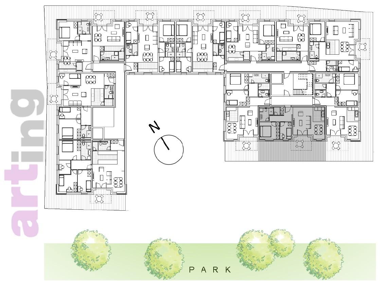 Stan A-1-2 - Raspored stanova na katu