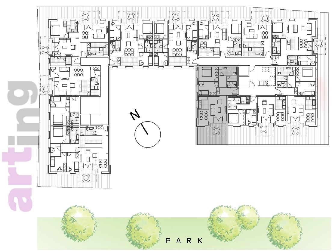 Stan A-1-1 - Raspored stanova na katu