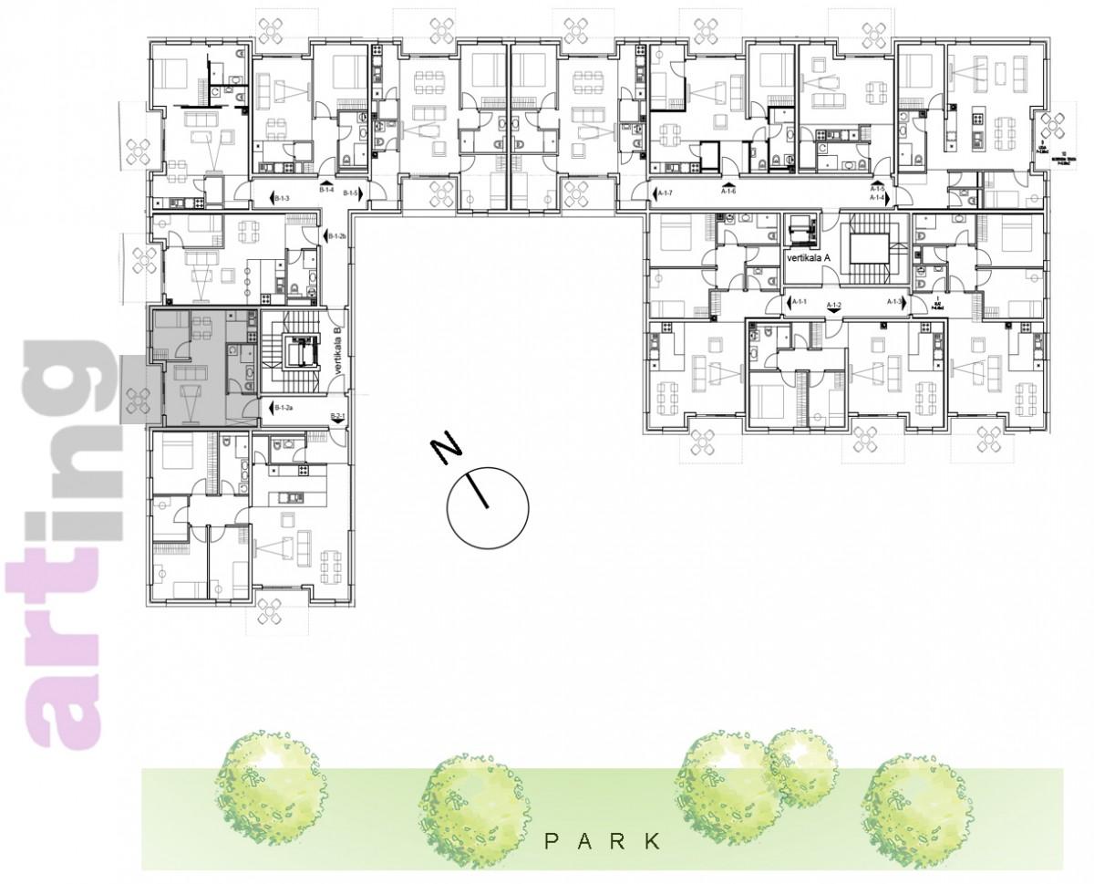 Stan B-2-2a - Raspored stanova na katu