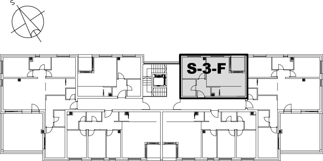 Stan S-3-F - Raspored stanova na katu