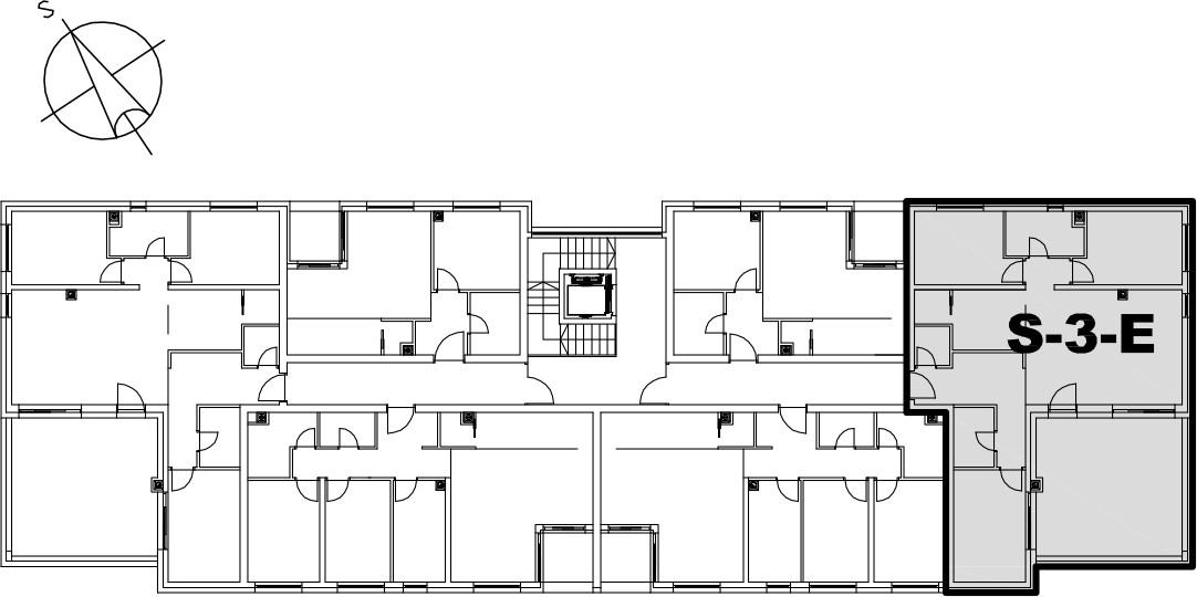 Stan S-3-E - Raspored stanova na katu