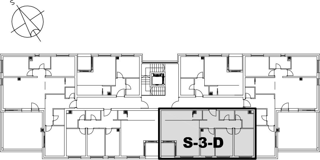 Stan S-3-D - Raspored stanova na katu