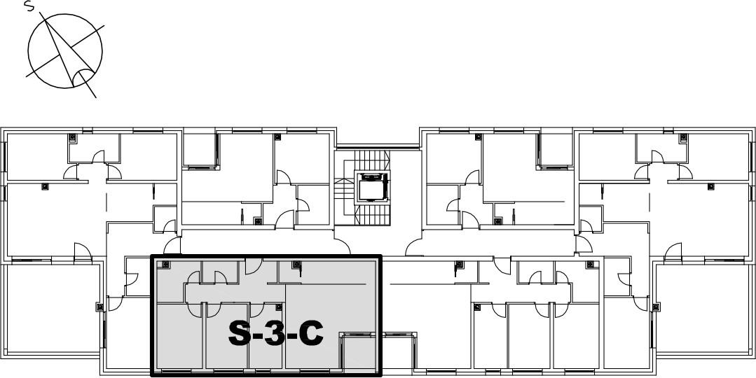 Stan S-3-C - Raspored stanova na katu