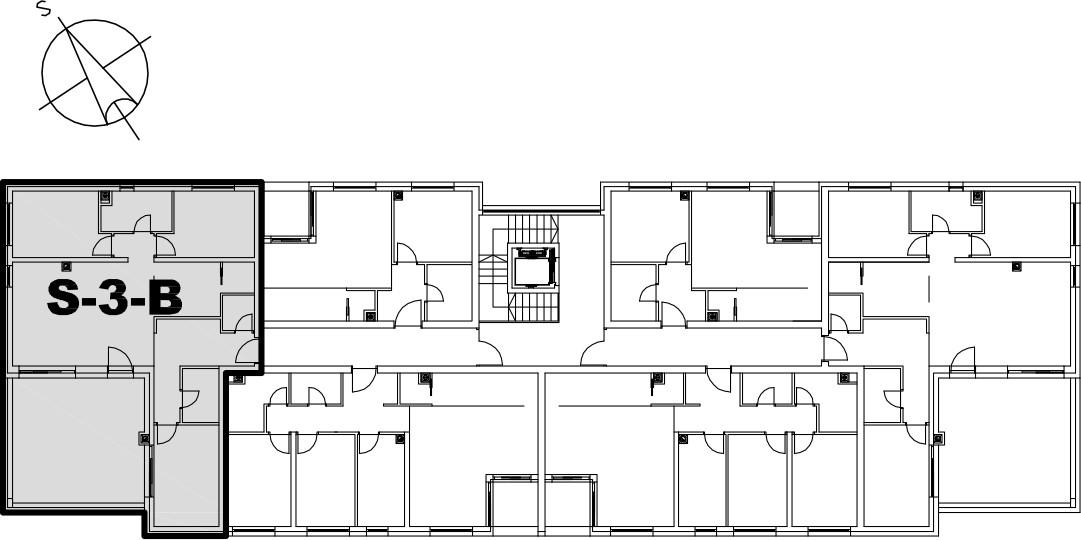 Stan S-3-B - Raspored stanova na katu