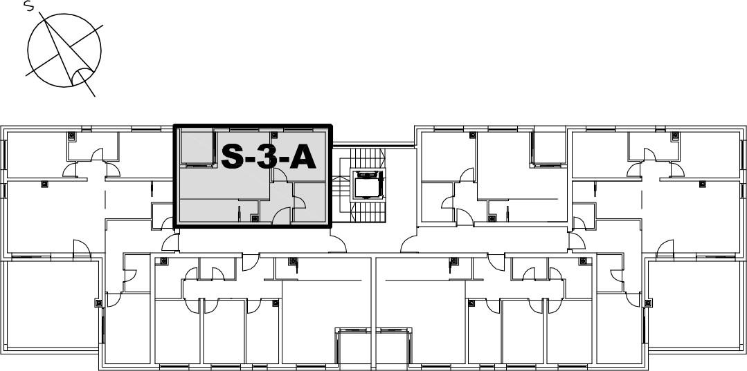 Stan S-3-A - Raspored stanova na katu
