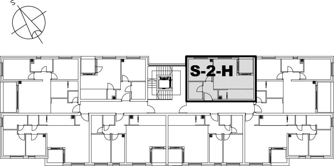 Stan S-2-H - Raspored stanova na katu